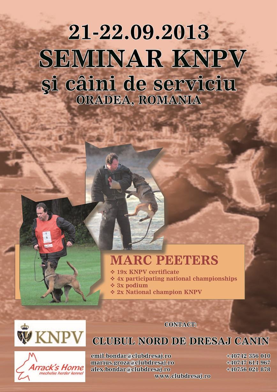 Seminar KNPV si caini de serviciu cu Marc Peeters